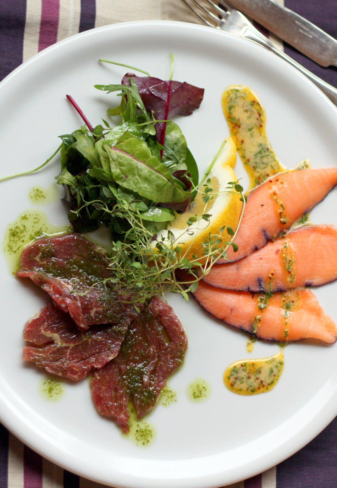 Herkkukasarin kokki kotiin -palvelu ja kokkikoulu: alkuruoka